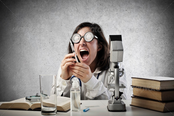 Crazy Researcher - Stock Photo - Images