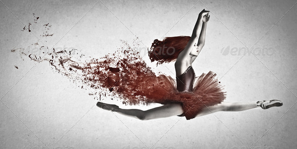 Red Dance - Stock Photo - Images