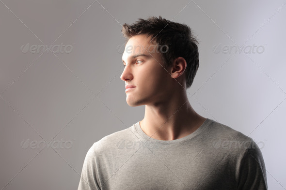 Boy Profile - Stock Photo - Images