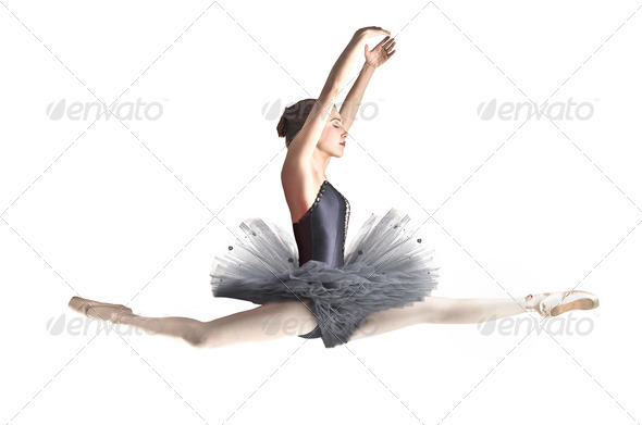 Jumping Dancer - Stock Photo - Images