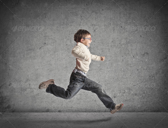 Running Child - Stock Photo - Images