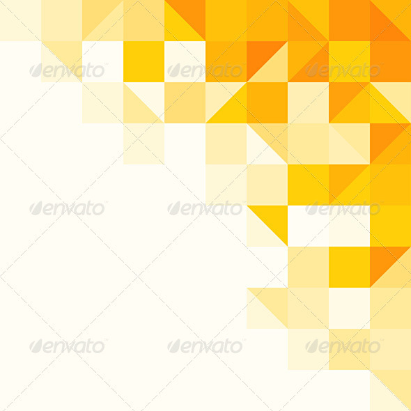 Yellow Abstract Pattern - Backgrounds Decorative