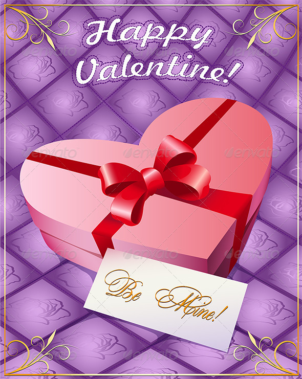 Greeting Card with Gift Box - Valentines Seasons/Holidays