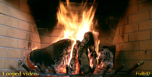 The Fireplace (Loop) by GGv | VideoHive