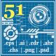 51 Techno & Hi Tech Elements - GraphicRiver Item for Sale