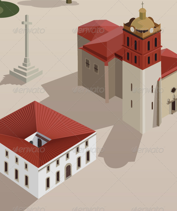 Historic Spanish Buildings - Buildings Objects