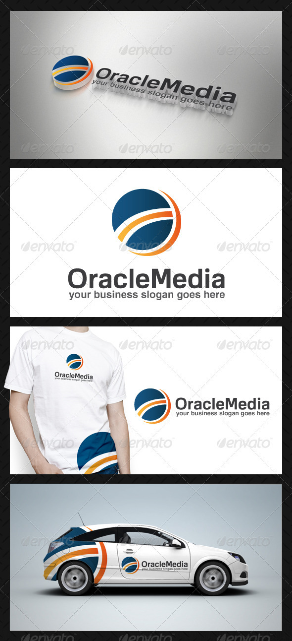 Oracle Media Logo Template - Vector Abstract