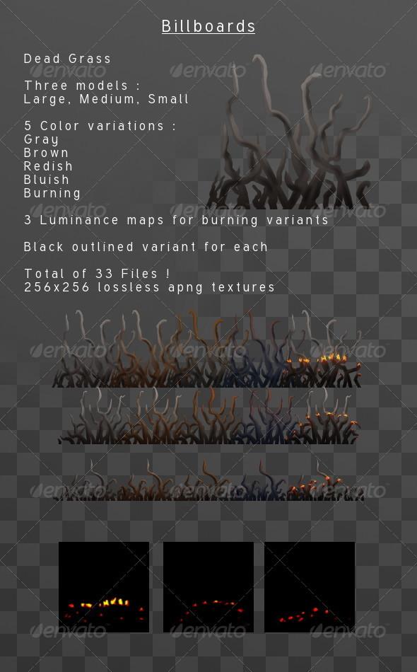 Dead Grass billboard pack - 3DOcean Item for Sale