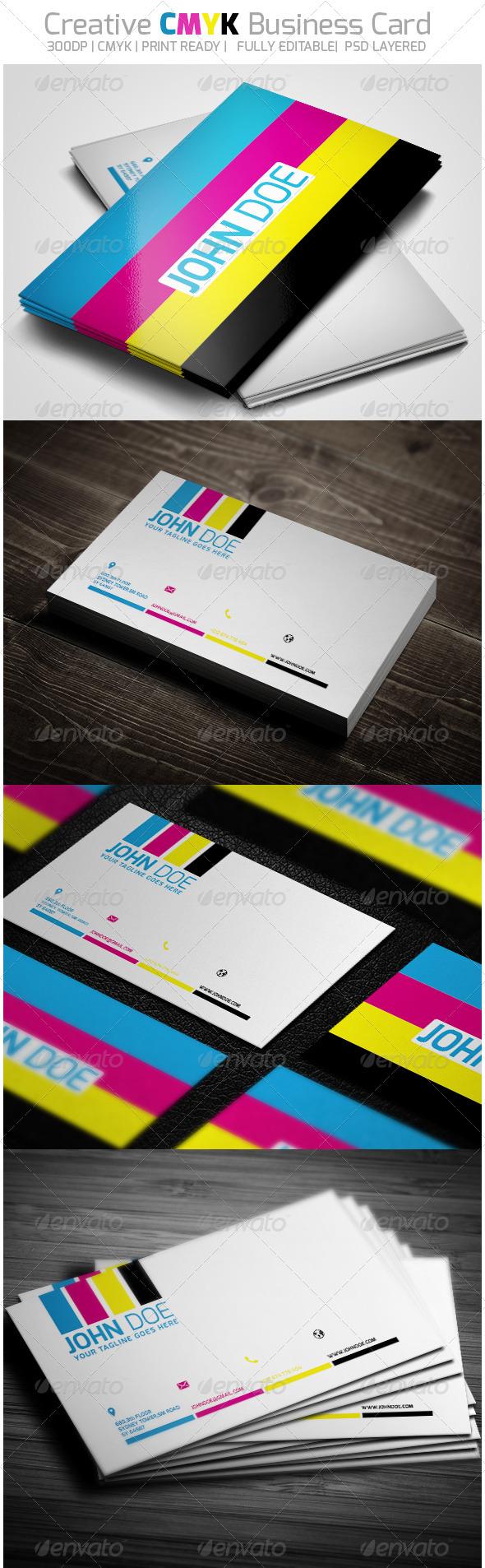 Creative CMYK Business Card - Creative Business Cards