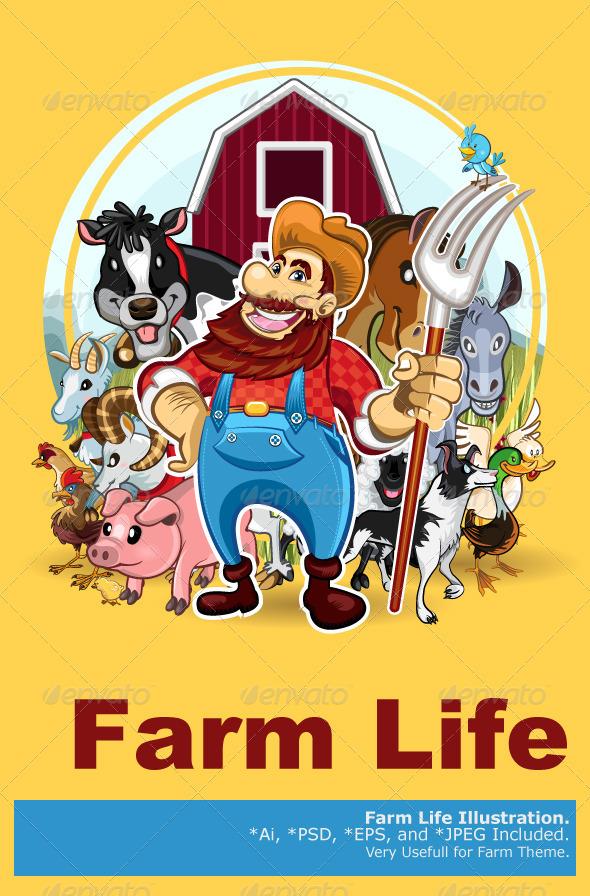 Farm Life - Animals Characters