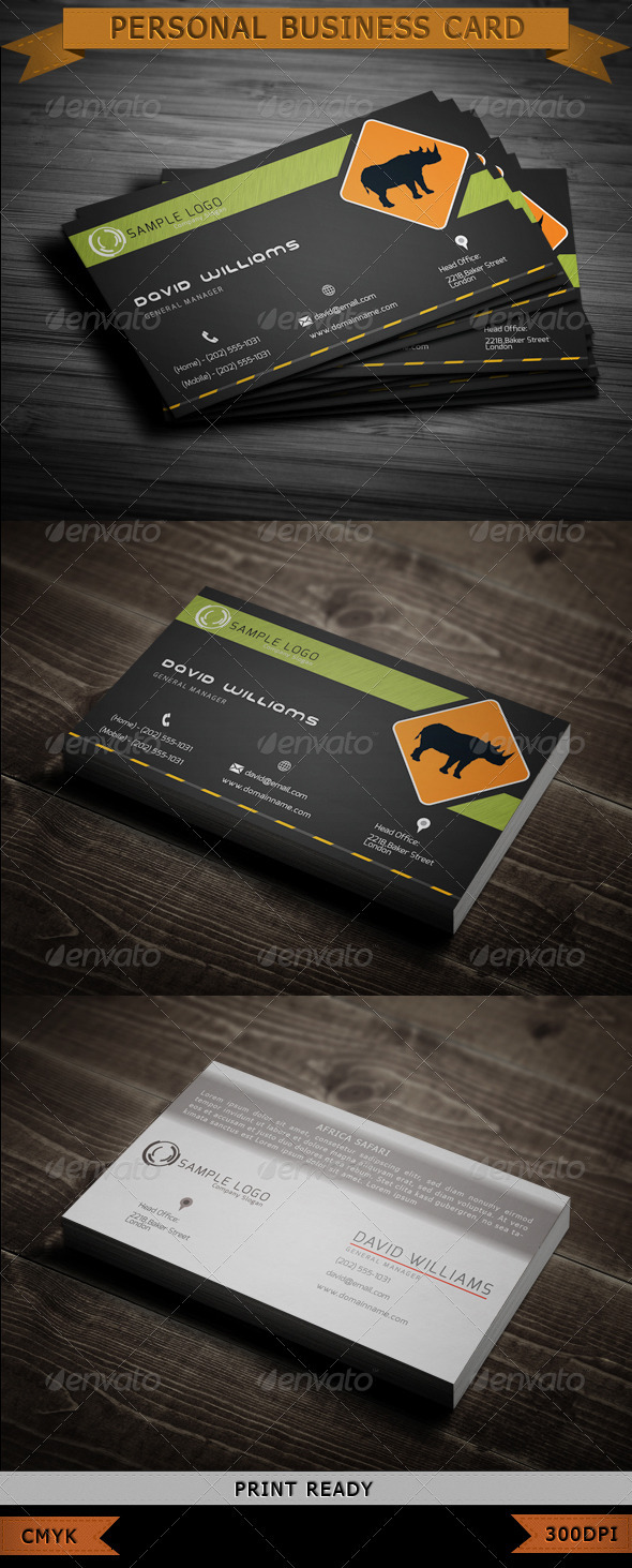 Adventure Travel Business Card - Industry Specific Business Cards