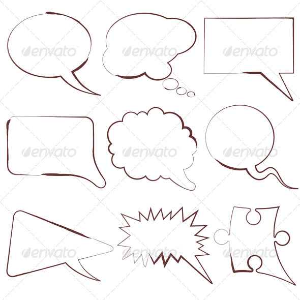 Speech Bubbles - Borders Decorative