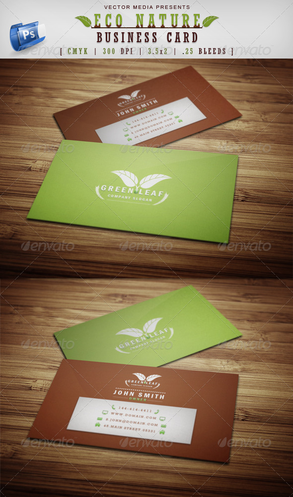 Eco nature business card by vectormedia graphicriver eco nature business card industry specific business cards reheart