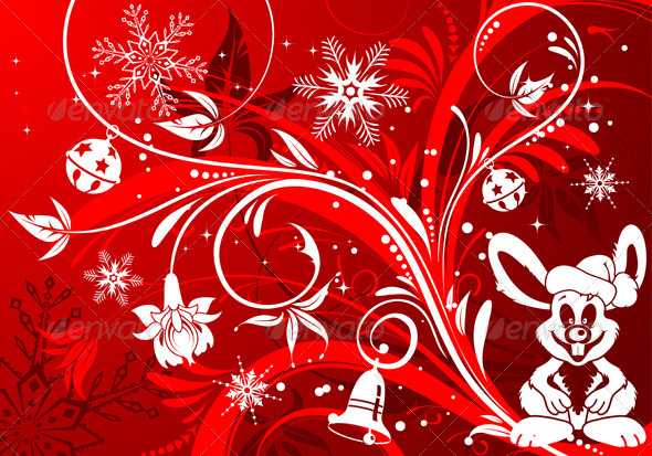 Christmas rabbit - Christmas Seasons/Holidays