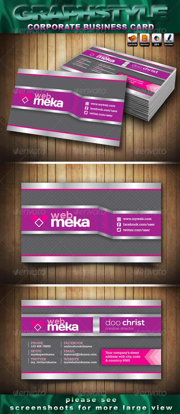 Webmeka Corporate Business Card - Creative Business Cards