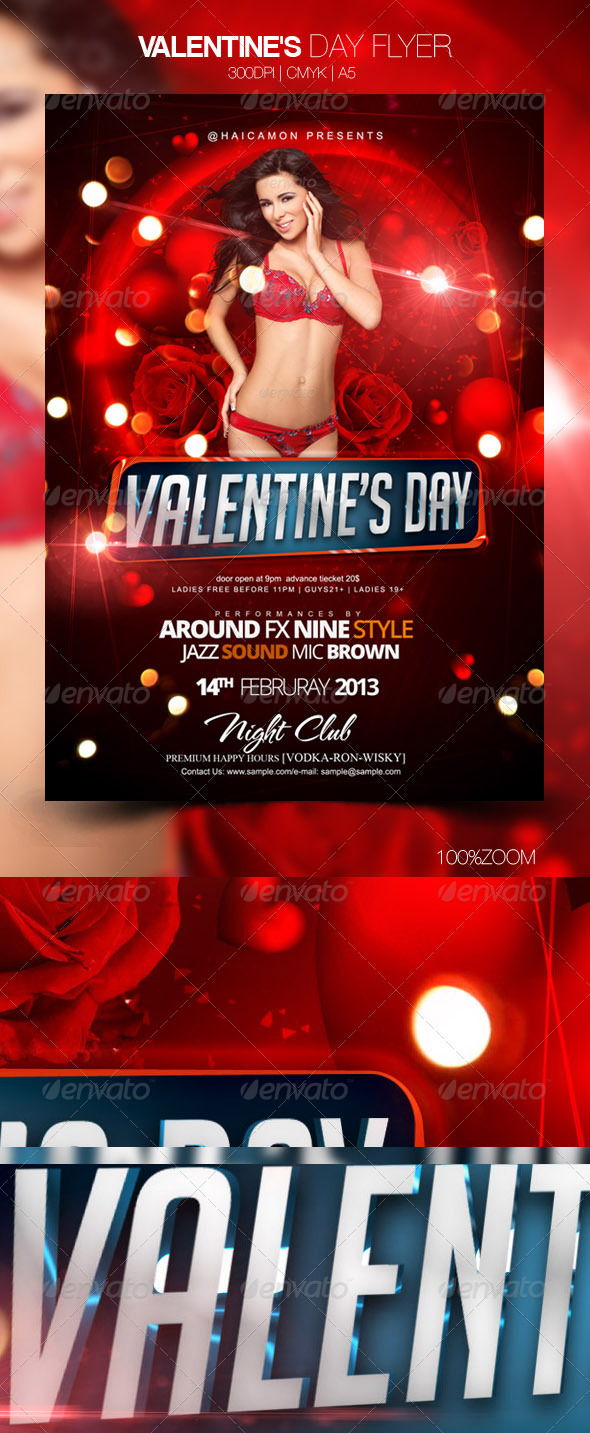 Valentine's Day Flyer - Flyers Print Templates