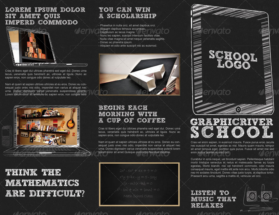School Brochure  TriFold Brochure By Keepitsimple  Graphicriver