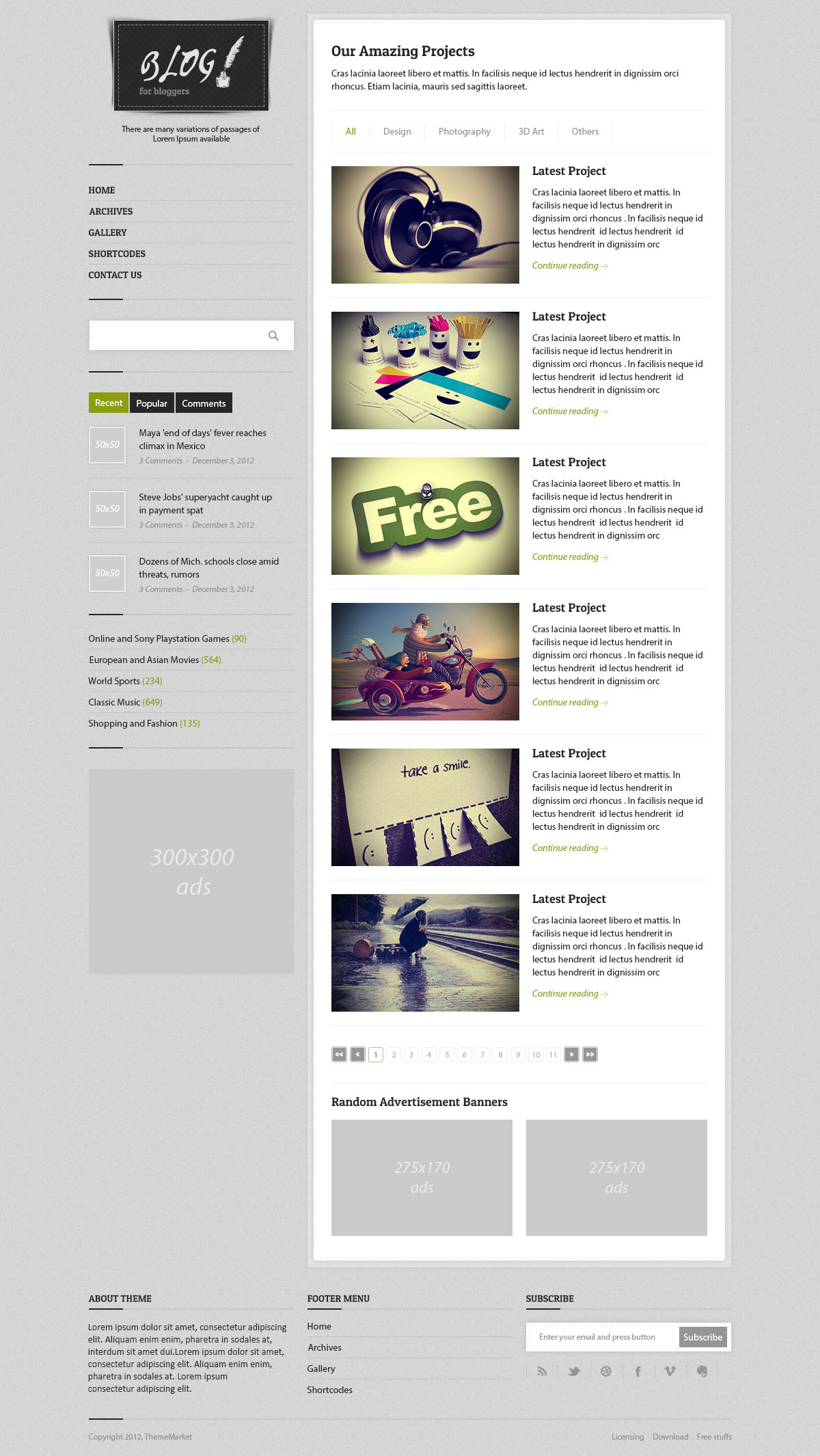 Blog - Responsive Multi-Purpose HTML Template by ThemeMarket ...