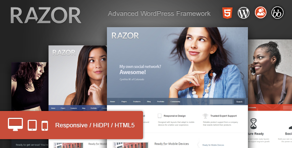 Razor: Cutting Edge WordPress Theme - BuddyPress WordPress