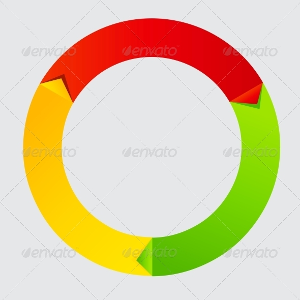 Concept of colorful Time Wheel vector illustration - Seasons Nature