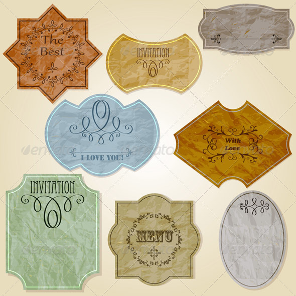 Vector Retro Crumpled Papers - Retro Technology