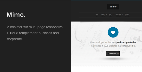 Mimo – Multi-Page Responsive HTML5 Template
