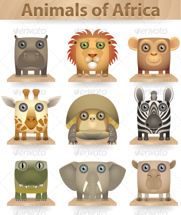 Animals of Africa - Animals Characters