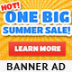 Summer Sale Banner Ad Template - GraphicRiver Item for Sale