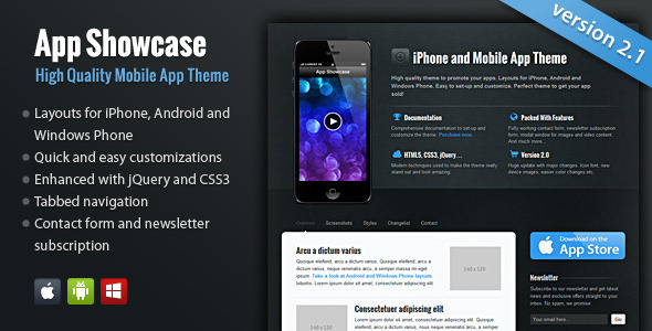 App Showcase – iPhone and Mobile App