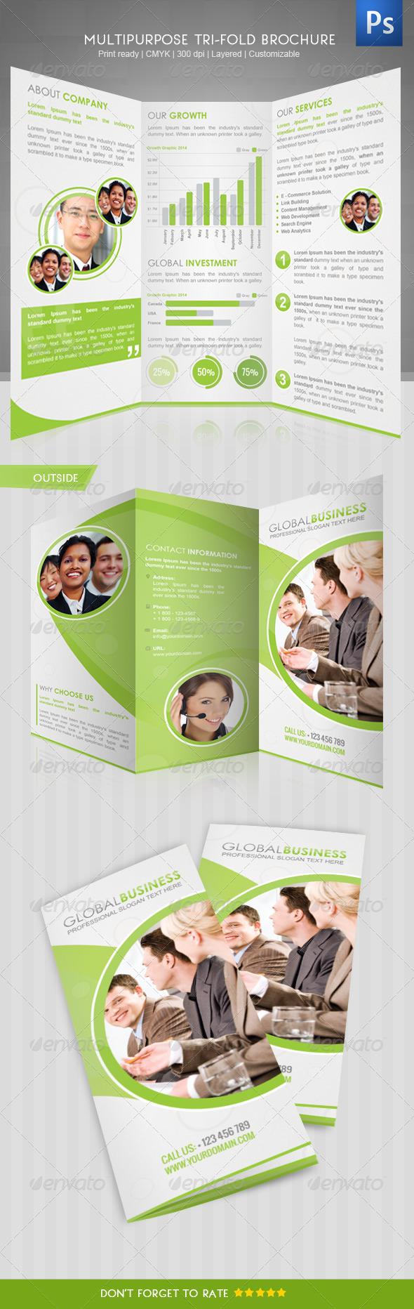 Corporate Tri-Fold Brochure III - Corporate Brochures