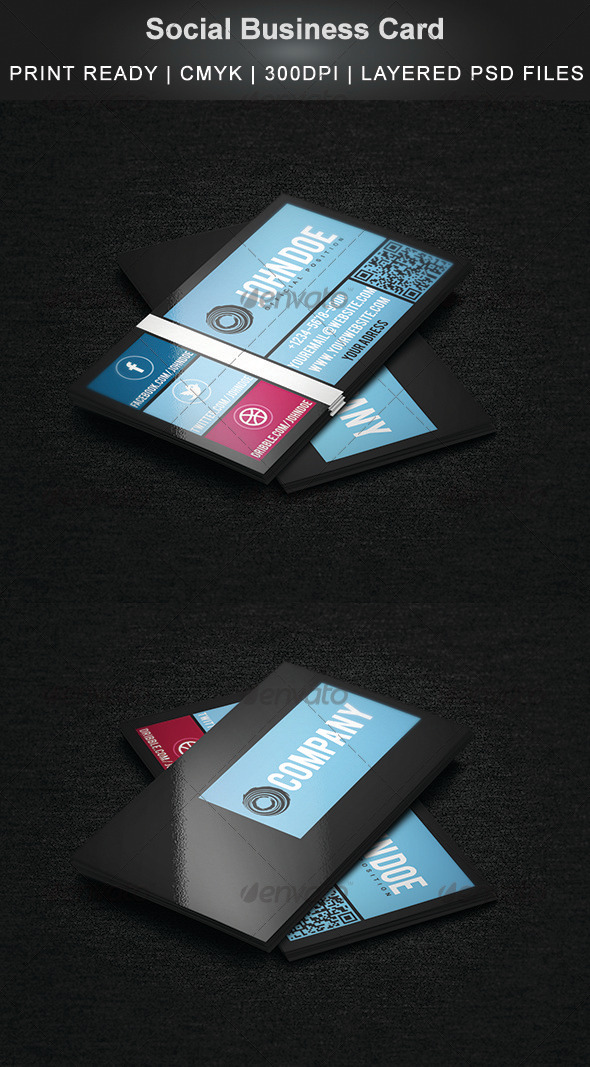 Social Business Card - Creative Business Cards
