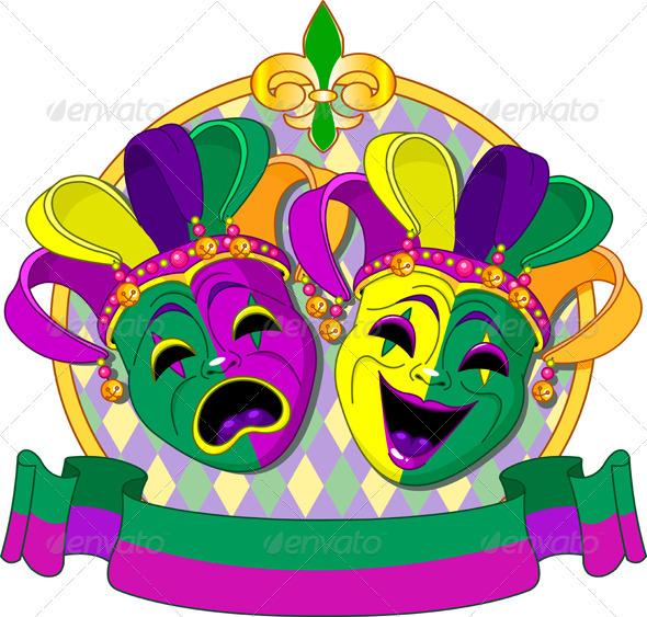 Mardi Gras Masks Design - Seasons/Holidays Conceptual