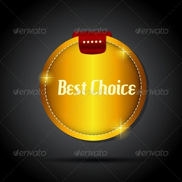 Best Choice Label with Red Ribbon - Retail Commercial / Shopping