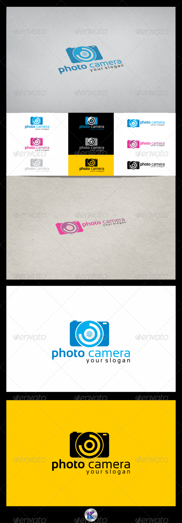 Photo Camera Logo Template - Objects Logo Templates