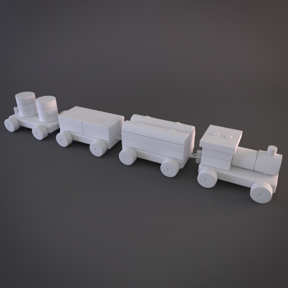 Modular Hy-rez Toy Train - 3DOcean Item for Sale