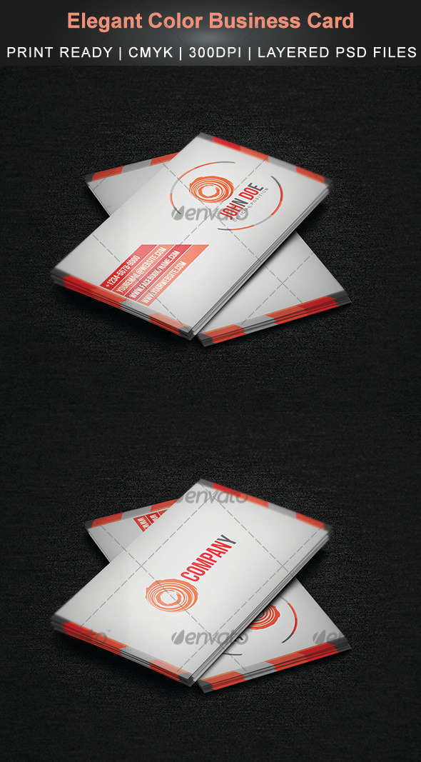 Elegant Color Business Card - Creative Business Cards