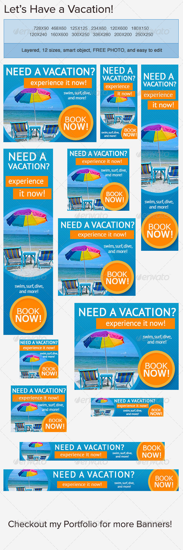 Vacation Banner Ad - Banners & Ads Web Elements