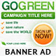 Go Green Banner Ads - GraphicRiver Item for Sale