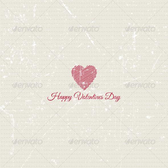 Grunge Valentines Day Background - Valentines Seasons/Holidays