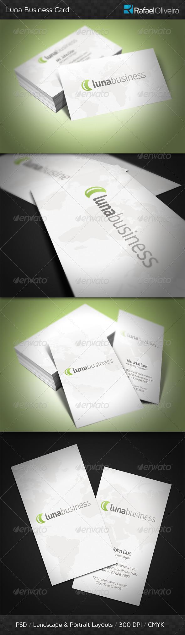 Luna Business Card - Corporate Business Cards