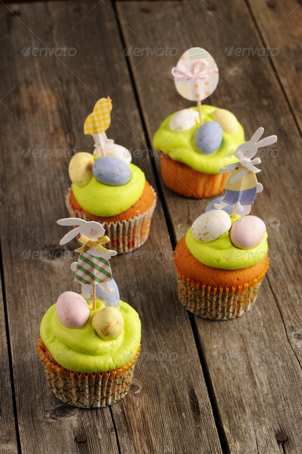 Easter homemade cupcakes - Stock Photo - Images