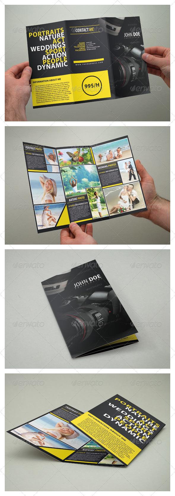 Photography Brochure Tri Fold - Brochures Print Templates