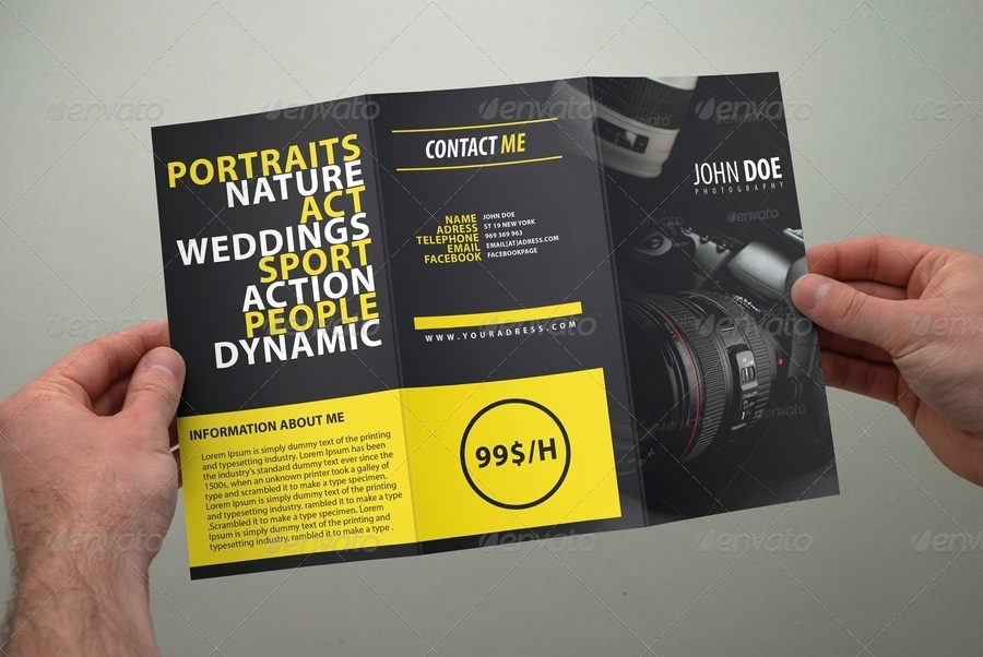 photography brochure tri fold by coxsumon