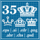 Crowns Elements v2 - GraphicRiver Item for Sale