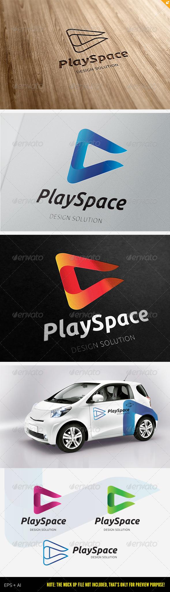 Play Space Logo - Vector Abstract