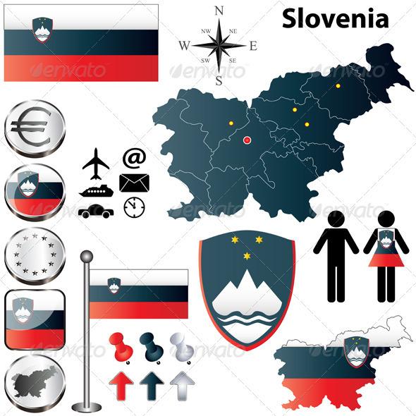 Slovenia Map - Travel Conceptual