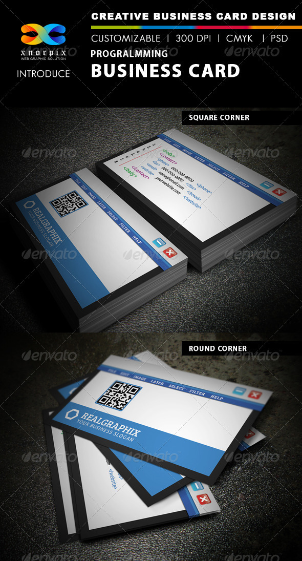 Programming Business Card - Creative Business Cards