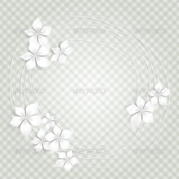 White Flowers - Backgrounds Decorative