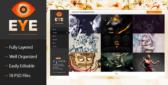 EYE – Premium PSD Template