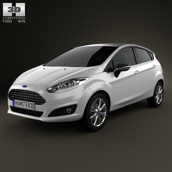 Ford Fiesta hatchback 5-door (EU) 2013 - 3DOcean Item for Sale
